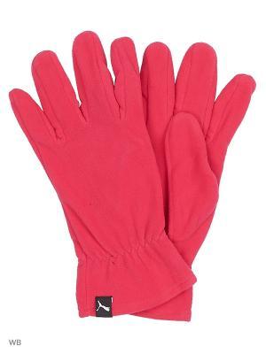 Перчатки fleece gloves PUMA. Цвет: малиновый