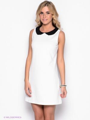 Платье Befree. Цвет: белый, черный