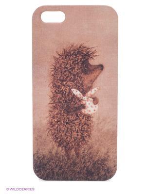 Чехол для IPhone 5 Ежик с котомкой Mitya Veselkov. Цвет: коричневый, бежевый