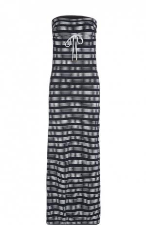 Пляжное платье Heidi Klein. Цвет: темно-синий
