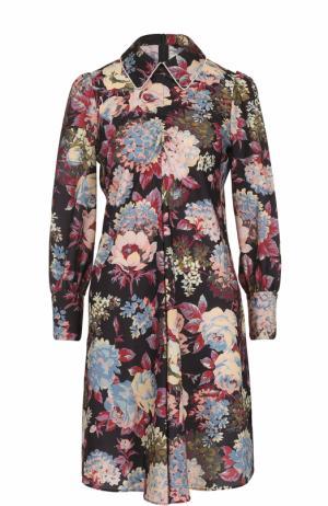 Мини-платье с цветочным принтом Tara Jarmon. Цвет: разноцветный
