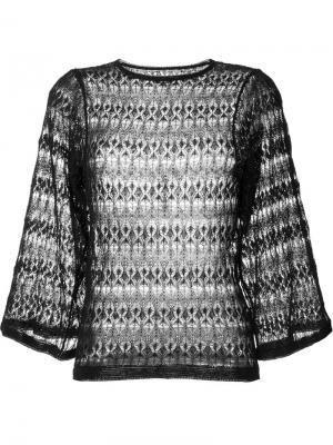 Ажурный свитер с широкими рукавами Isabel Marant. Цвет: чёрный