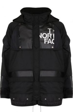 Утепленная куртка на молнии с капюшоном Junya Watanabe. Цвет: черный