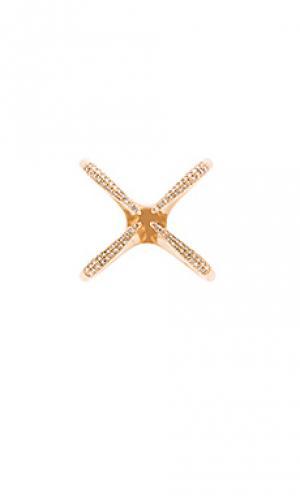 Кольцо Sachi. Цвет: металлический золотой