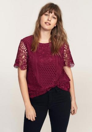 Блуза Violeta by Mango. Цвет: бордовый