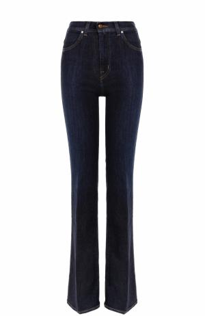 Расклешенные джинсы с потертостями и стрелками Jacob Cohen. Цвет: синий