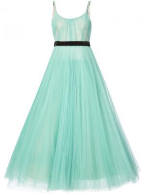 Вечернее платье со складками J. Mendel. Цвет: зелёный