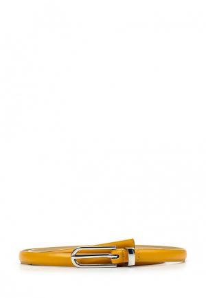 Ремень United Colors of Benetton. Цвет: желтый