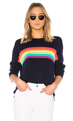 Свитер rainbow stripes SUNDRY. Цвет: синий