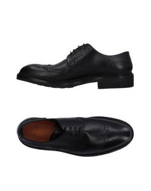 Обувь на шнурках LOTTUSSE. Цвет: черный