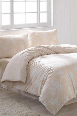 Постельное белье 1,5сп Marie claire. Цвет: cream and white