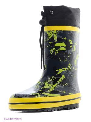 Резиновые сапоги Зебра. Цвет: желтый