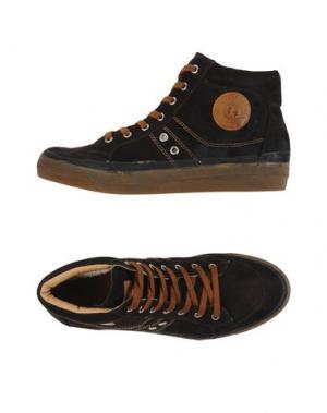 Высокие кеды и кроссовки D'ACQUASPARTA. Цвет: темно-коричневый
