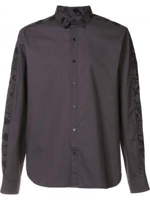 Рубашка с вышивкой Wooyoungmi. Цвет: чёрный