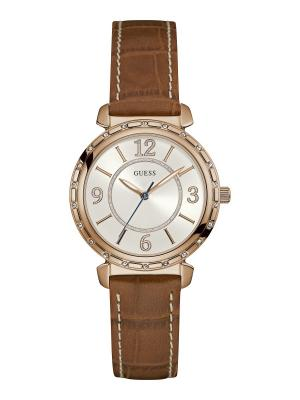 Часы GUESS. Цвет: золотистый, коричневый, розовый