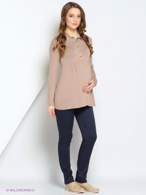 Блуза Gebbe. Цвет: бежевый