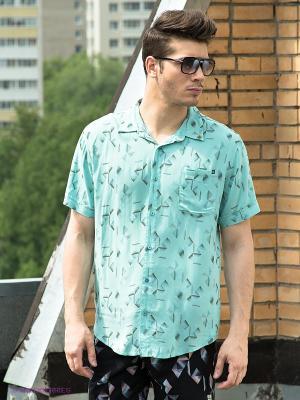 Рубашка Insight. Цвет: бирюзовый, серый, коричневый