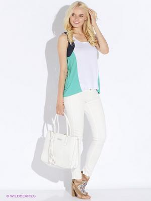 Блузка Up Girl. Цвет: синий, зеленый, белый