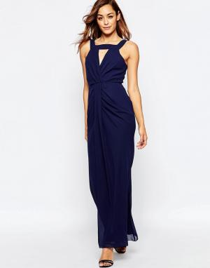 VLabel London Платье макси Clarence. Цвет: темно-синий