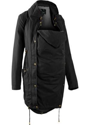 Мода для беременных: куртка-парка со вставкой малыша и трикотажной подкладкой (оливковый) bonprix. Цвет: оливковый