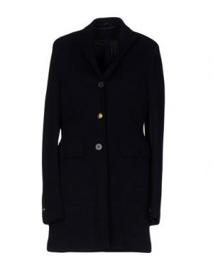 Легкое пальто JOHN SHEEP. Цвет: темно-синий