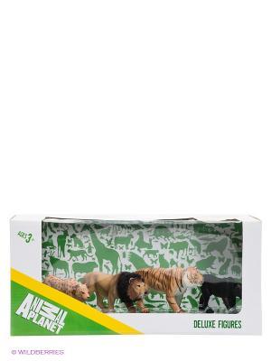 Набор фигурок Большие кошки MOJO. Цвет: светло-коричневый, белый, темно-коричневый