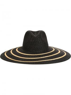 Шляпа с широкими полями Filù Hats. Цвет: чёрный