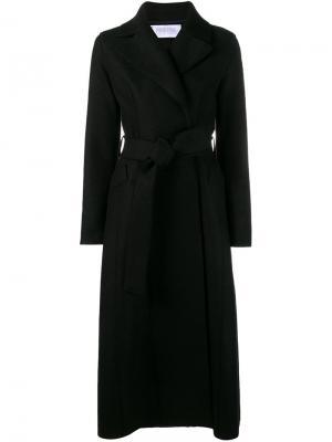 Удлинное пальто с поясом Harris Wharf London. Цвет: чёрный