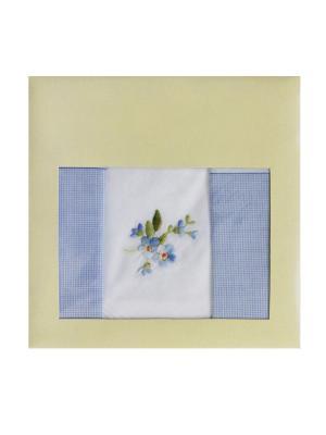 Платки носовые ZLATA KORUNKA. Цвет: белый, голубой
