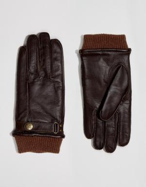 Dents Коричневые кожаные перчатки Penrith. Цвет: коричневый