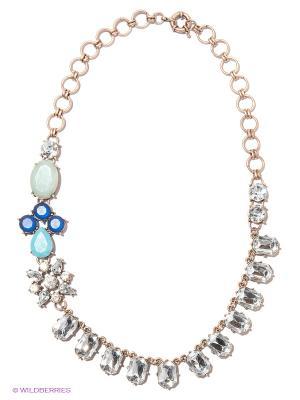 Колье Milana Style. Цвет: голубой, синий