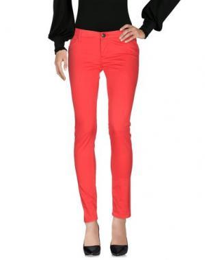 Повседневные брюки LEROCK. Цвет: красный