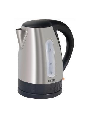 Чайник Mystery MEK-1633 серебристый 1.7л. 2000Вт (нержавеющая сталь). Цвет: белый