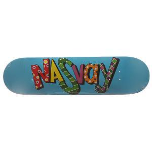Дека для скейтборда  Eralash Wb Blue 31.5 x 8.0 (20.3 см) Nasvay. Цвет: голубой
