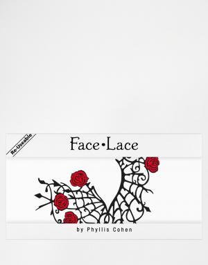 Facelace Декоративные наклейки для век Face Lace Halloween Gothamour. Цвет: gothamour