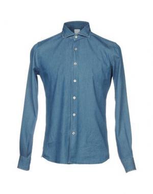 Джинсовая рубашка DOMENICO TAGLIENTE. Цвет: синий