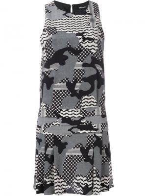 Платье с камуфляжным принтом Neil Barrett. Цвет: многоцветный
