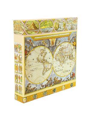 Фотоальбом antique map VELD-CO. Цвет: горчичный