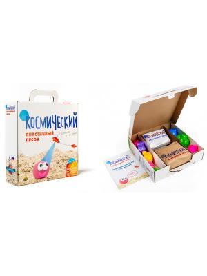 Космический песок Песочница+Формочки Розовый 2 кг(коробка) пластичный. Цвет: розовый