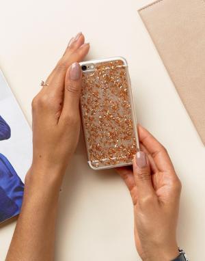 SIGNATURE Чехол для Iphone6 с блестящей отделкой. Цвет: золотой