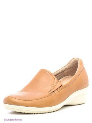 Ботинки ECCO. Цвет: темно-бежевый