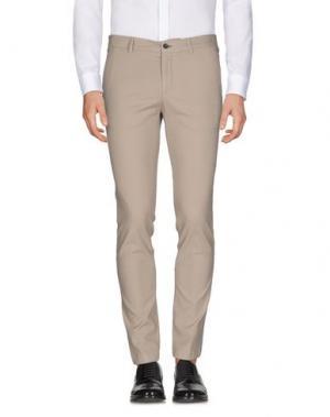 Повседневные брюки PAOLONI. Цвет: голубиный серый