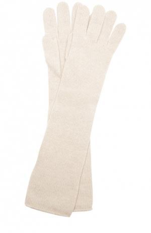 Удлиненные перчатки из кашемира Johnstons Of Elgin. Цвет: светло-бежевый