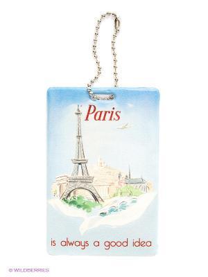 Бирка на багаж Paris is always a good idea Kawaii Factory. Цвет: голубой