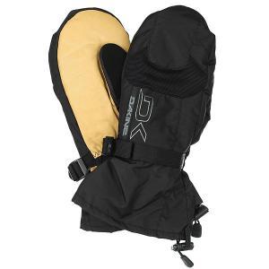 Варежки сноубордические  Leather Scout Mitt Black/Tan Dakine. Цвет: бежевый,черный