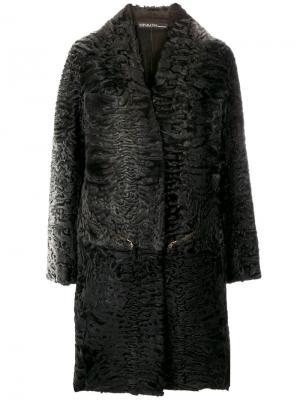 Пальто с драпировкой и вышивкой 32 Paradis Sprung Frères. Цвет: серый