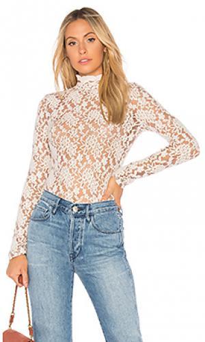 Топ с воротником sweater lace Nightcap. Цвет: кремовый