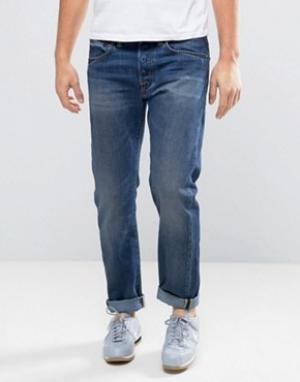 Edwin Выбеленные суженные книзу джинсы стандартного кроя ED-55. Цвет: синий