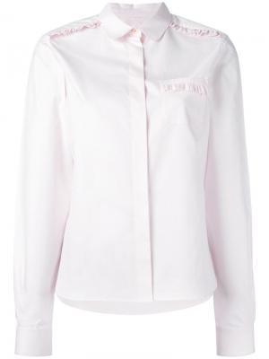 Рубашка с рюшами Chinti And Parker. Цвет: розовый и фиолетовый