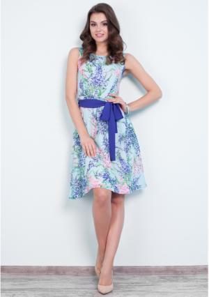 Платье MY STYLE. Цвет: синий (голубой)